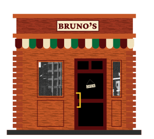 Bruno's Central City Book Illustrations Buildings