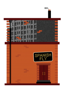 The Spanish Fly Central City Book Illustrations Buildings