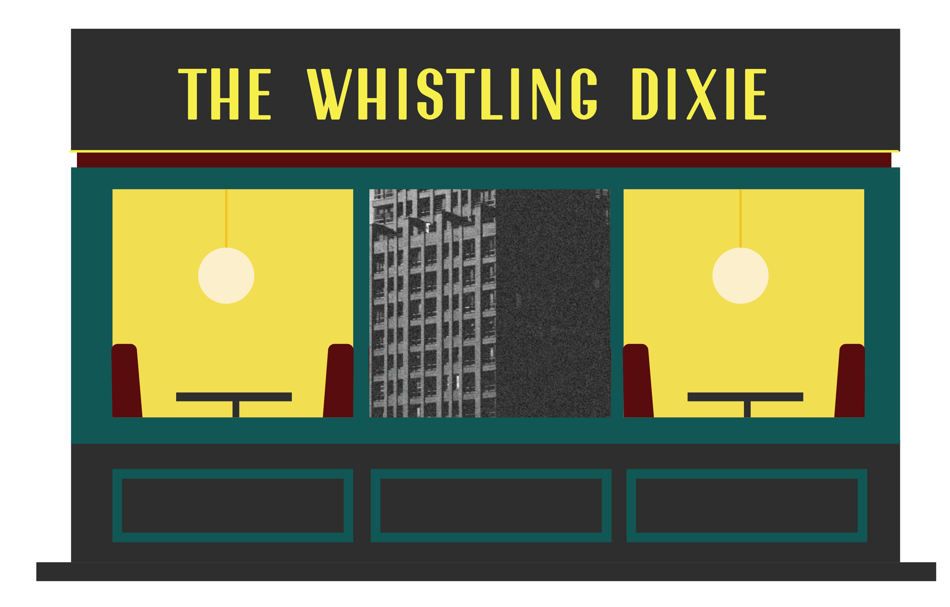 The Whistling Dixie Central City Book Illustrations Buildings